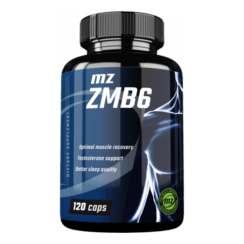 Recommended ZMA supplement containing Organic Zinc, Organic Magnesium and Vitamin B6 for optimal bioavailability - MZ Store ZMB6